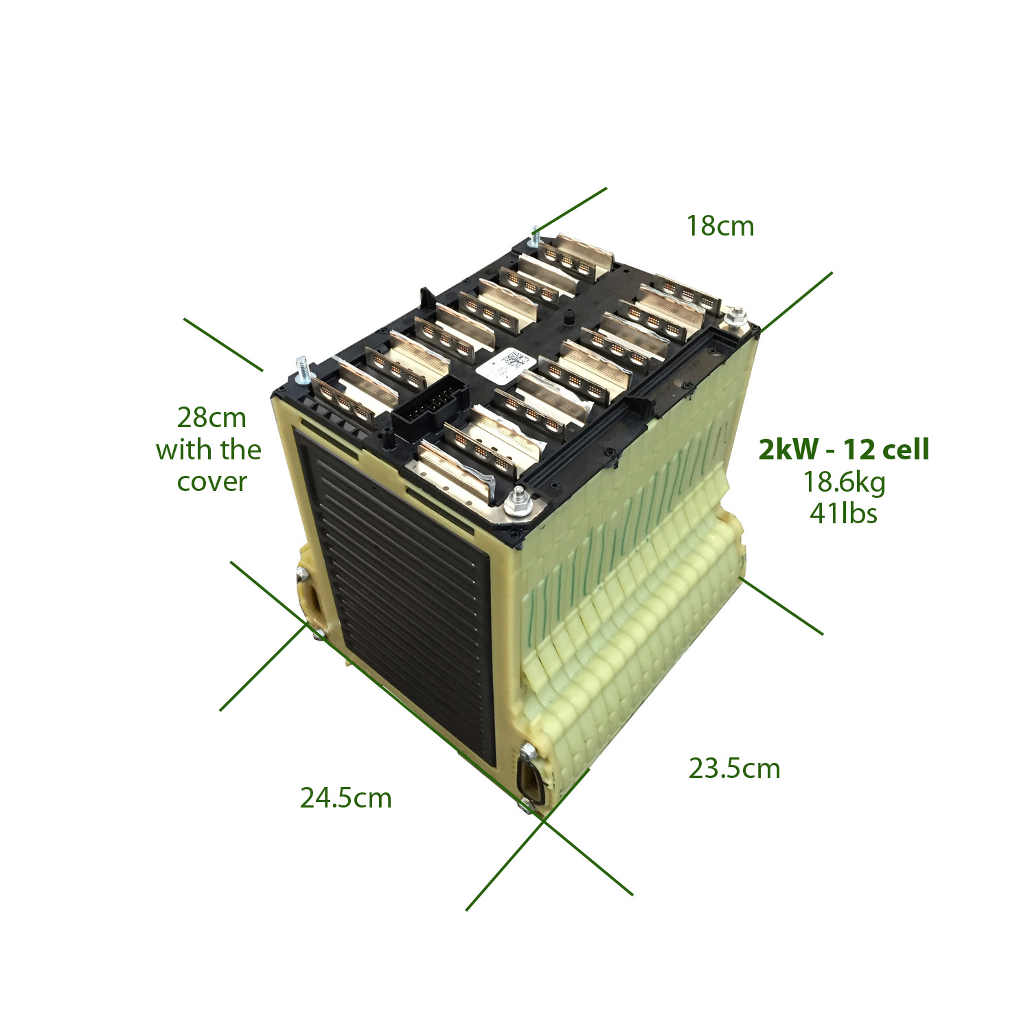 2kwh Lithium Battery Pack Chevrolet Volt 47v 47ah 12 Cells Batterycelldiagramjpg 43000 Each